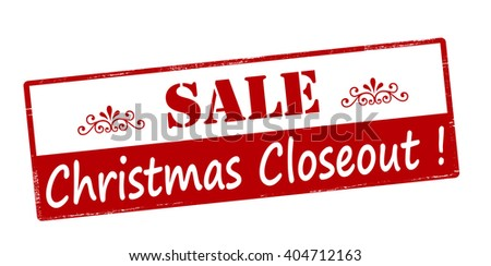 Rubber stamp with text sale Christmas closeout inside, vector illustration - stock vector
