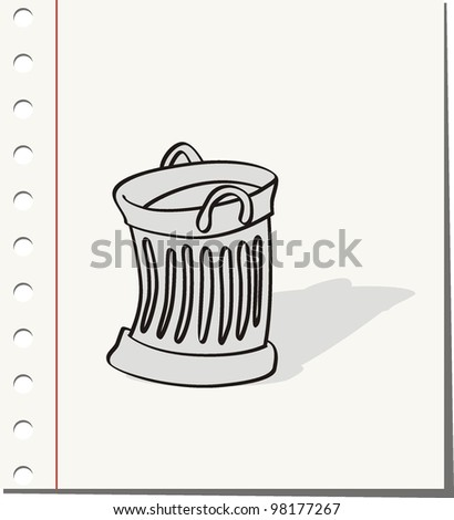 rubbish bin - stock vector
