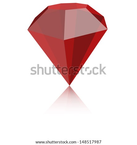 Ruby Red - stock vector