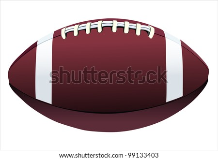 Rugby ball isolated on white background - stock vector