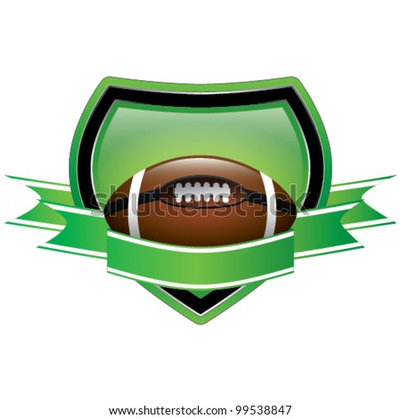 Rugby Shield Emblem - stock vector