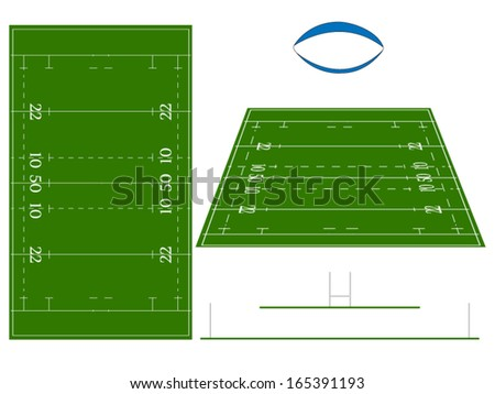 Rugby Union Field - stock vector