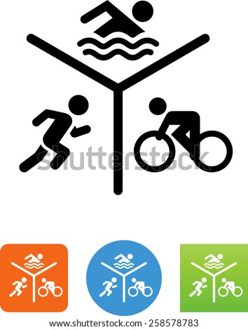 Run Bike Swim symbol for download. Vector icons for video, mobile apps, Web sites and print projects.  - stock vector