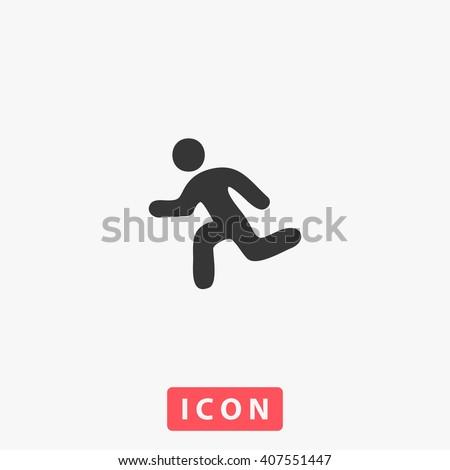 run Icon - stock vector