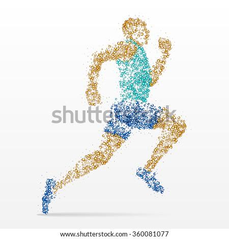runner, marathon, athletics, competition - stock vector