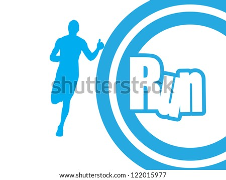 Runner. vector - stock vector