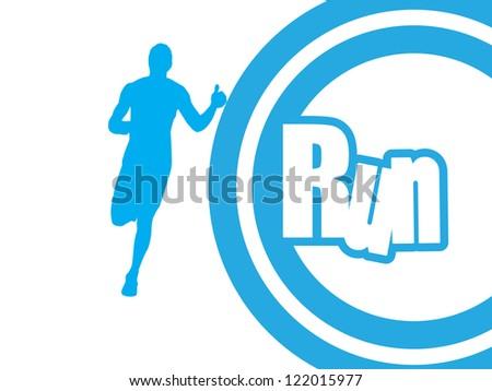 Runner. vector - stock vector