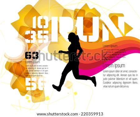 Runner, vector - stock vector