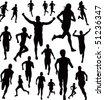 Runners Vector - stock vector