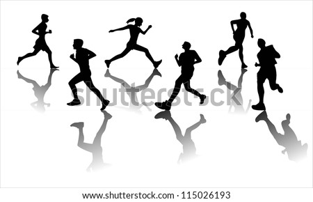 Running - stock vector