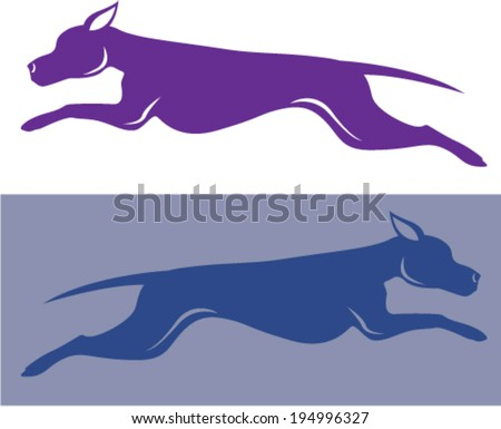 Running Dog Vector - stock vector