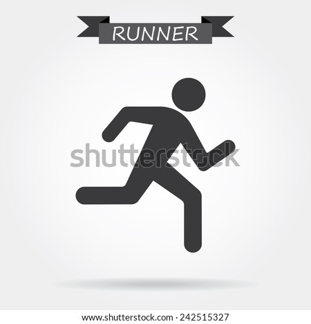 Running icon - stock vector