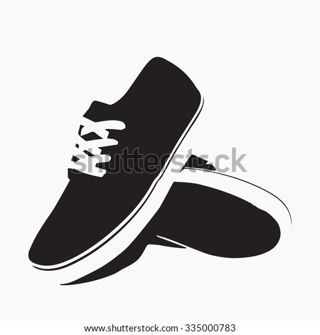 Running shoes icon vector