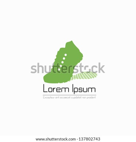 Running shoes label - vector illustration - stock vector