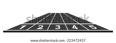 Running track  - stock vector
