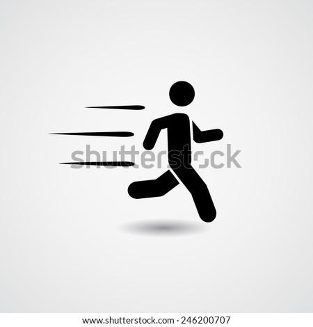 Running. Vector Illustration  - stock vector