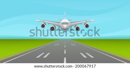 Runway - stock vector