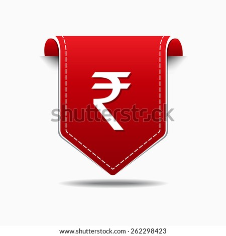Rupee Sign Vector Icon Design - stock vector