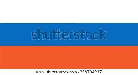 Russian flag - stock vector