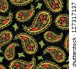 russian style paisley seamless pattern - stock vector