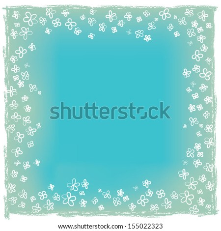rustic blue paper - stock vector