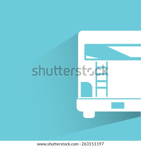 RV back view car - stock vector
