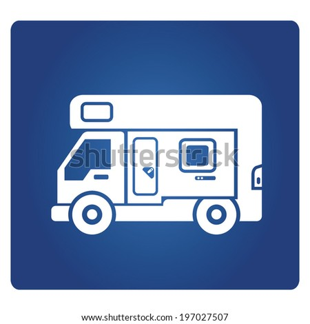 rv car, camping van - stock vector