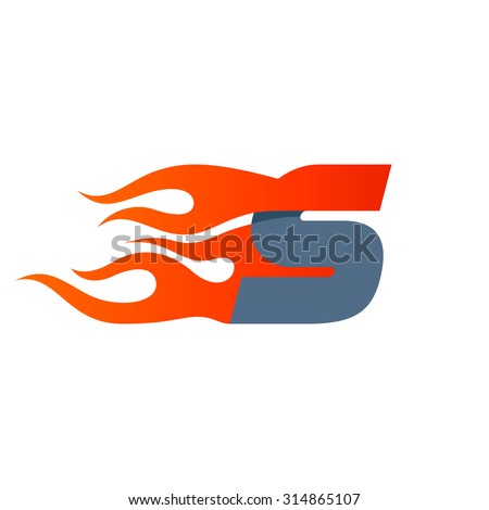S letter logo design template. Fast fire speed vector unusual letter. Vector design template elements for your application or company. - stock vector