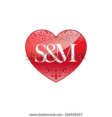 M Letter In Heart Sm Card Stock P...