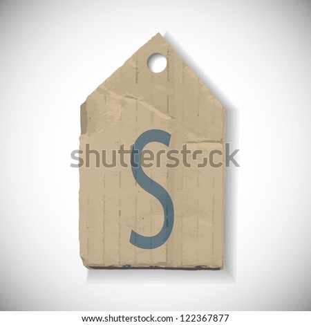 S Size label isolated on white - stock vector