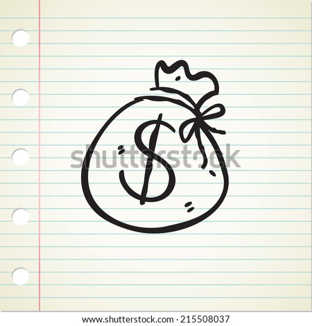 sack of money - stock vector