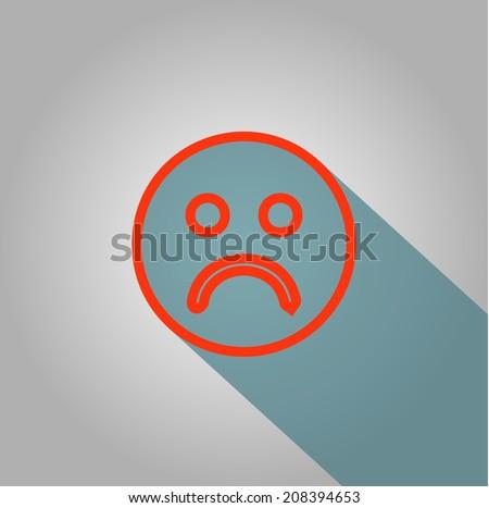 Sad icon - stock vector