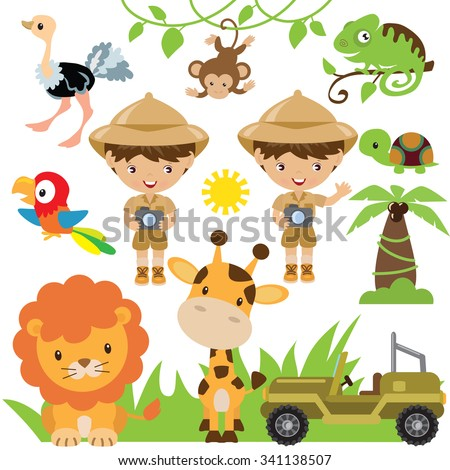 Safari vector illustration - stock vector