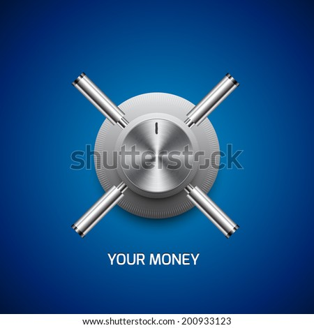 safe and deposit vector - stock vector