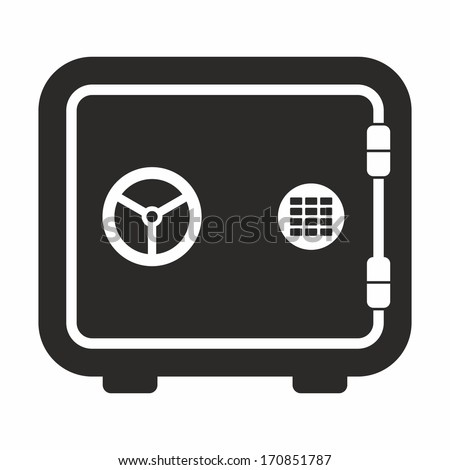 Safe (black and white) - stock vector
