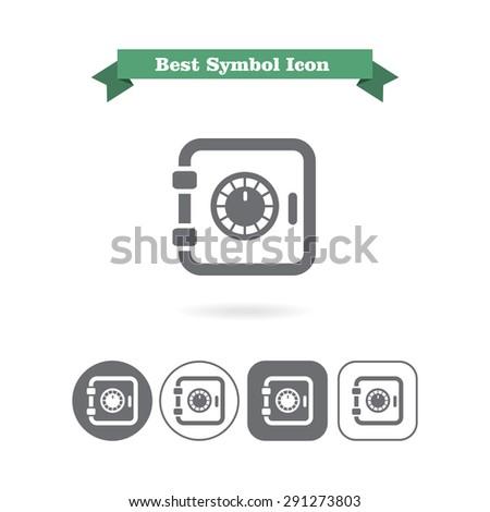 Safe box icon - stock vector