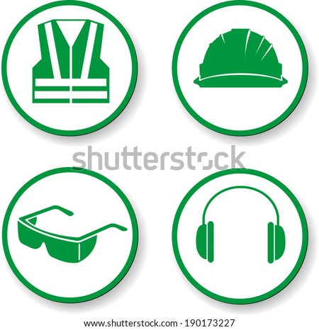 safety first - stock vector