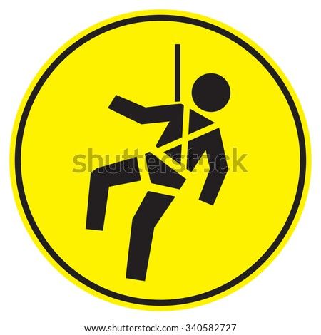 safety harness signs - stock vector