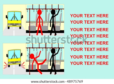 safety in public transportation - stock vector