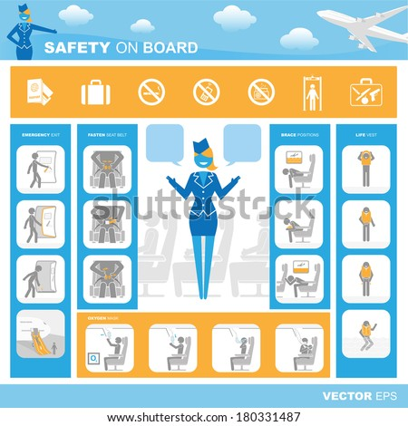 Safety on board - stock vector
