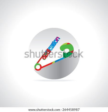 safety pin connect with dedication concept  - stock vector