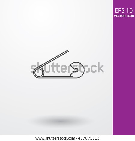 Safety Pin vector icon - stock vector