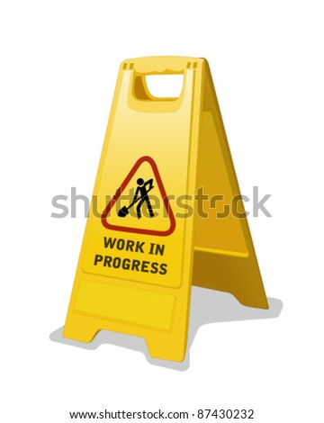 Safety Sign isolated - stock vector
