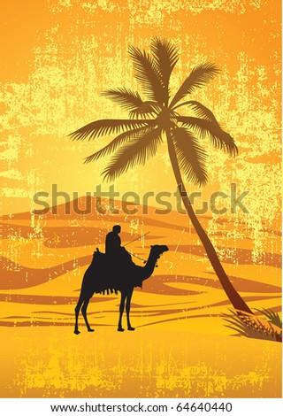 Sahara desert - stock vector