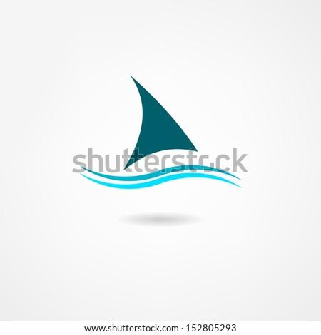 sail icon - stock vector