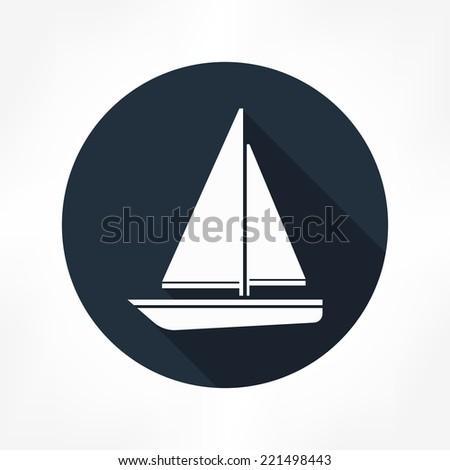 sailboat icon - stock vector