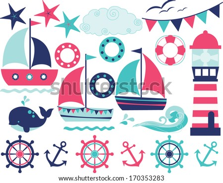 Sailing Away (Girl) - stock vector