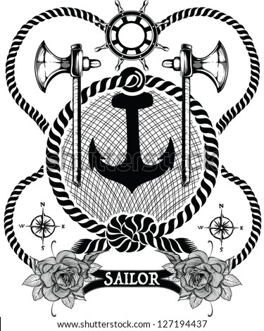 Sailor elements - stock vector