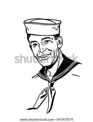 Sailor - Retro Clipart Illustration - stock vector