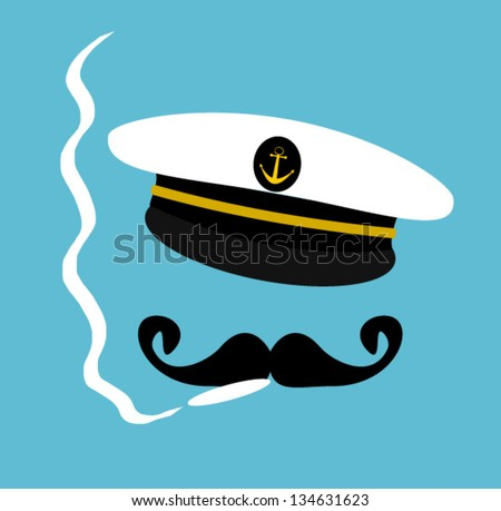 sailor smoking - stock vector